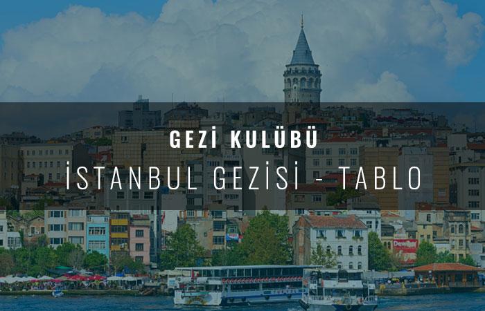 İstanbul Gezisi Tablo